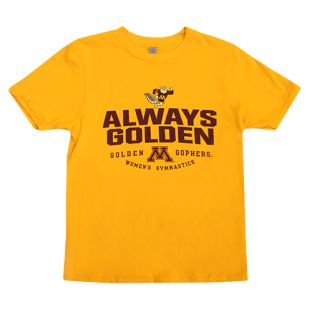 Gymnastics Always Golden Youth T-Shirt