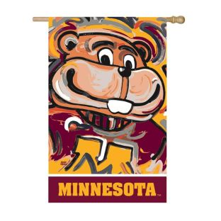 "29""x43"" Justin Patten Artwork Mascot House Flag"