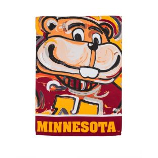 "12.5""x18"" Justin Patten Artwork Mascot Garden Flag"