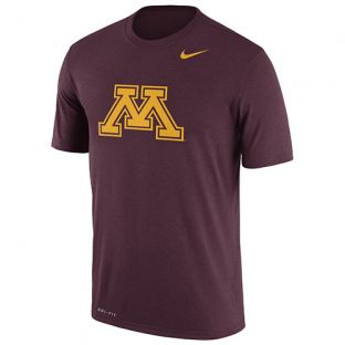 Nike Maroon Block M Dri-Fit T-Shirt