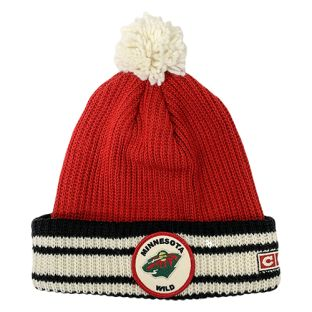 Minnesota Wild CCM Cuffed Patch Pom Knit