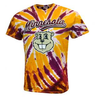 Goldy Gopher Tie Dye Replay T-Shirt