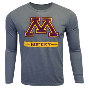 Hockey Bold M Triblend Long Sleeve T-Shirt