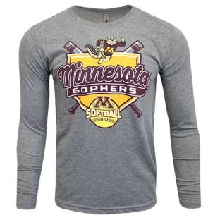 Softball At Bat Tri-Blend Long Sleeve T-Shirt