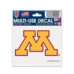 "Wincraft 3""x4"" Gold M Multi-Use Decal"