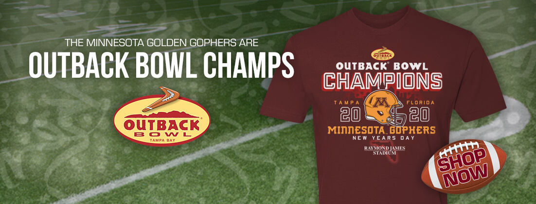 Official Minnesota Golden Gophers 2020 Outback Bowl Champions T-Shirt